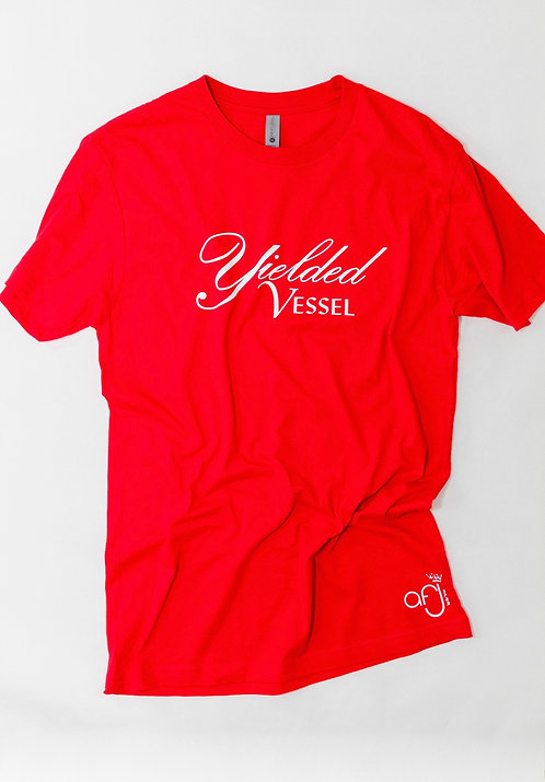 Red and White Yielded Vessel T-Shirt