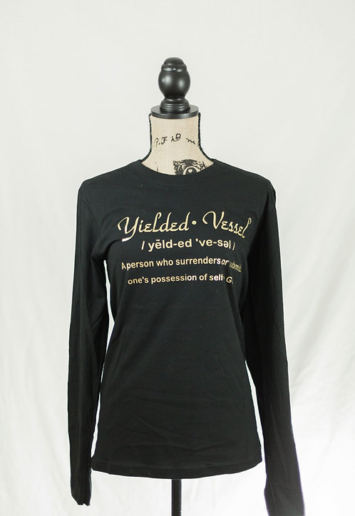 Black and Gold Yielded Vessel Definition - Long-sleeve Tee