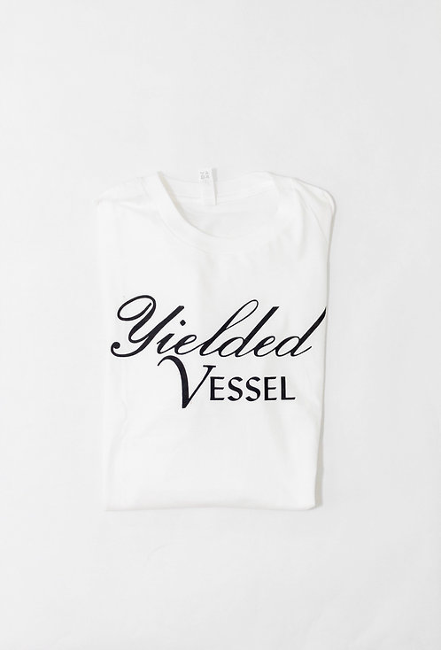 White and Black Yielded Vessel Tee