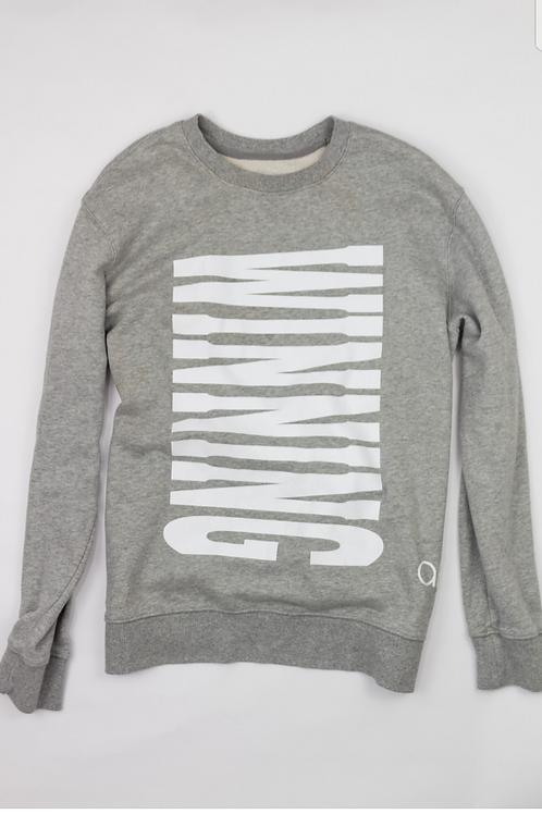 Grey and White Winning Sweatshirt