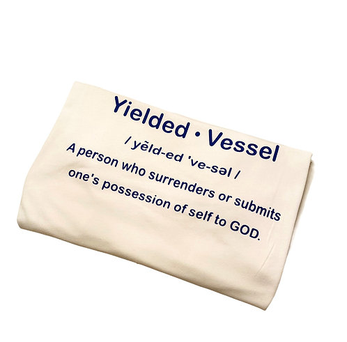 Royal Blue and White Yielded Vessel Definition T-Shirt