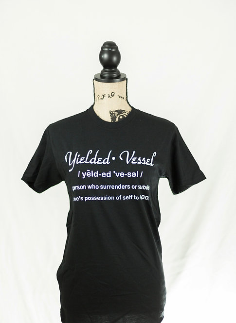 Black and White Yielded Vessel Definition Tee
