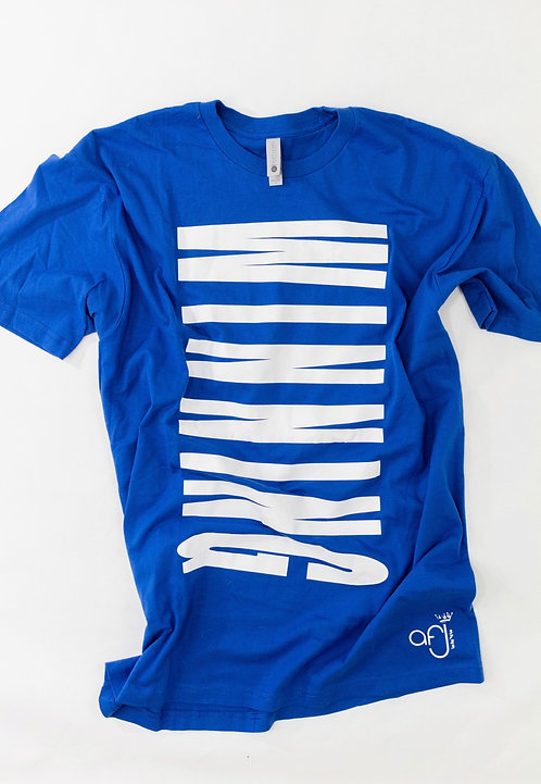 Royal Blue and White Winning Tee