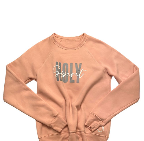 Peach, Gray and White Holy Spirit Sweatshirt
