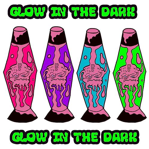 Pink Blob Lampz - (4 Pin) Glow In The Dark Hard Enamel Pin Pack