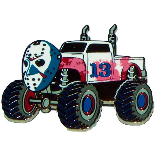 Hockey Mask Truck - Red, White & Blue Variant Hard Enamel Pin