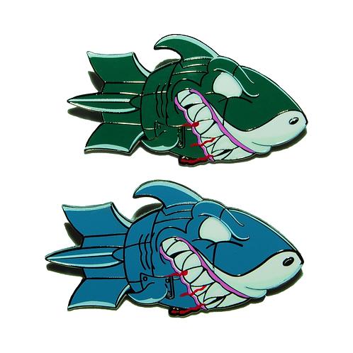 "Shark Bombz - 2"" Hard Enamel Pin"