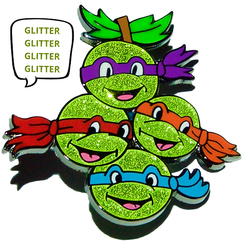 Ninja Grapez v1 - (Glitter Variant) Hard Enamel Pin