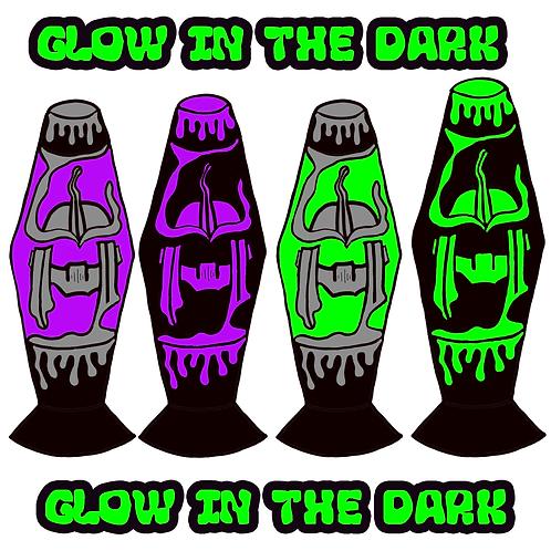 Drippy Helmet Lampz - (4 Pin) Glow In The Dark Hard Enamel Pin Pack