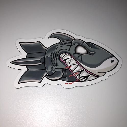 """Shark Bomb 3"""" Fridge Magnet"""