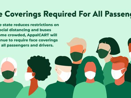 AppalCART Face Masks Requirement