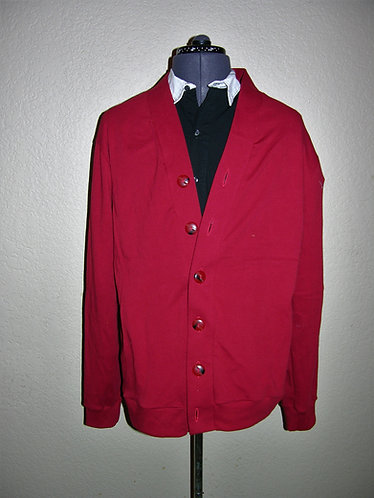 Red Grandpa Sweater/ Cardigan