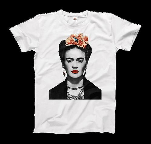 Frida Kahlo With Flowers Poster Artwork T-Shirt