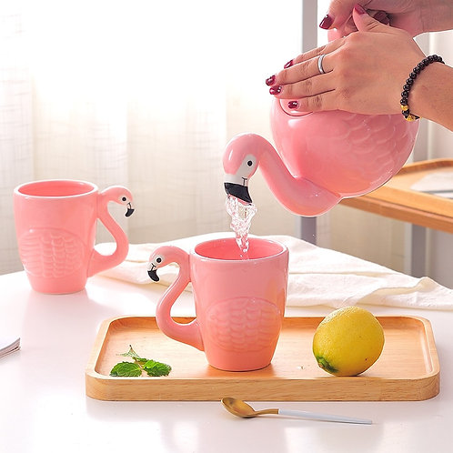 Pink Flamingo Girl Ceramics