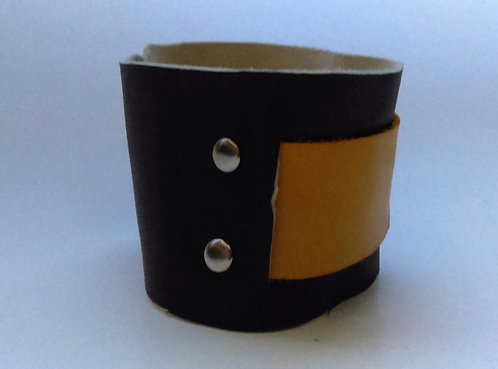 Grey and Yellow Cuff