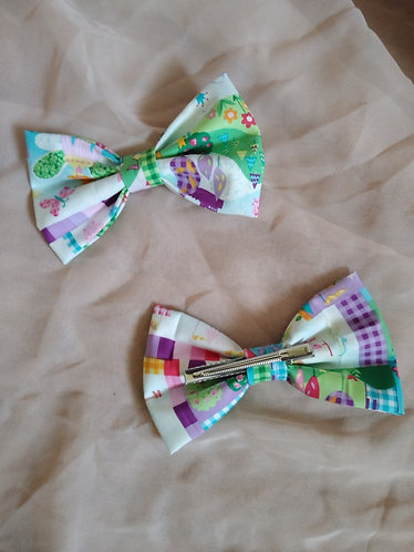 Princess Print Hair Bow