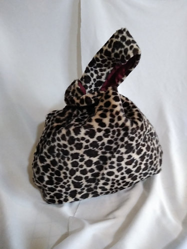 Mini Leopard Knot Bag