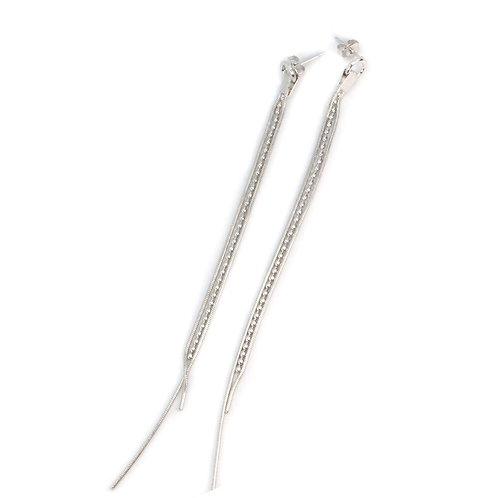 Sami Silver Chain Earrings