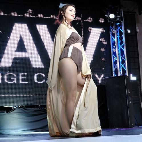 Gold Silky Kimono Jacket