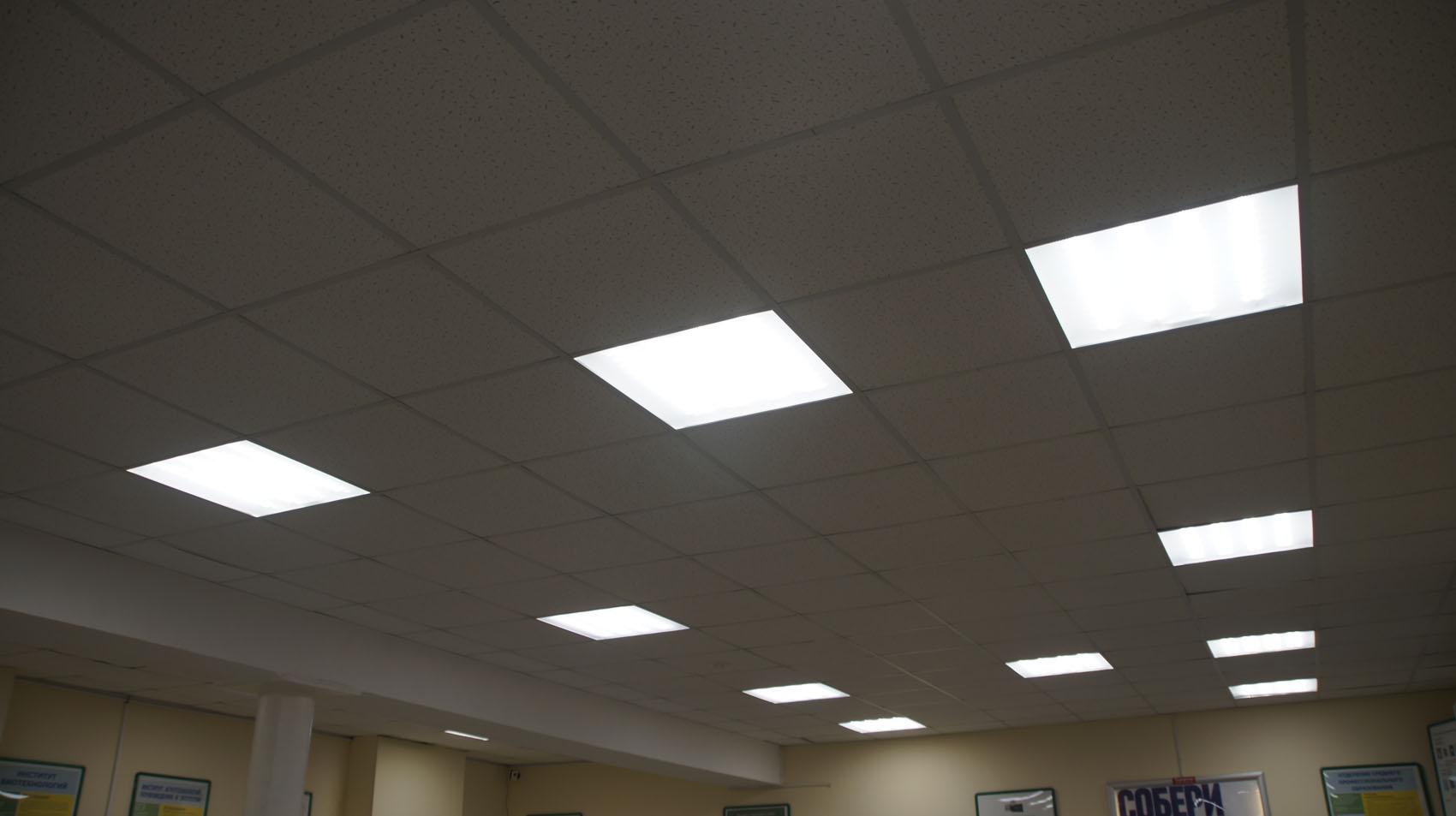 Новые светильники в холлах
