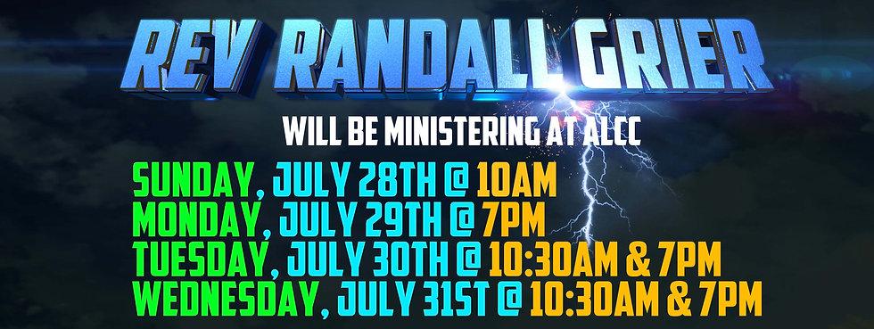 Rev Randall Grier at ALCC - Neligh, NE -