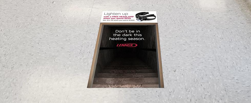 promotional floor decal design