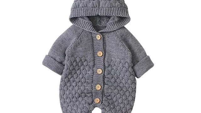 It's the Baby Bear Knitted Jumpsuit (Grey)