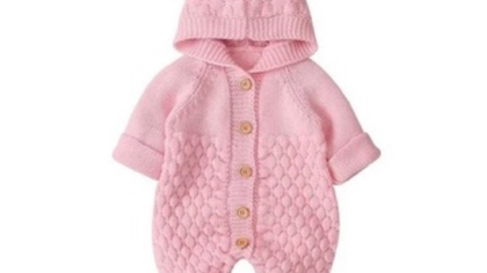 It's the Baby Bear Knitted Jumpsuit (Pink)