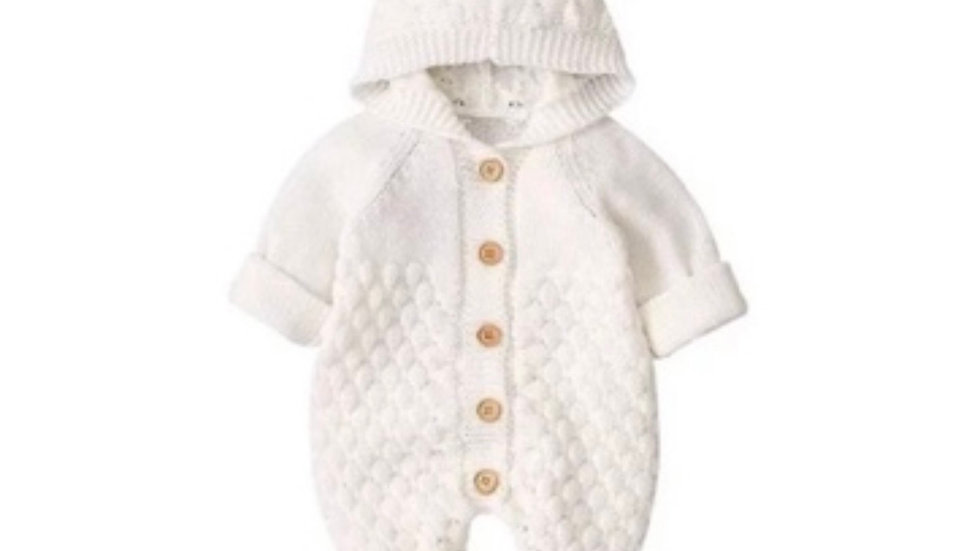 It's the Baby Bear Knitted Jumpsuit (White)