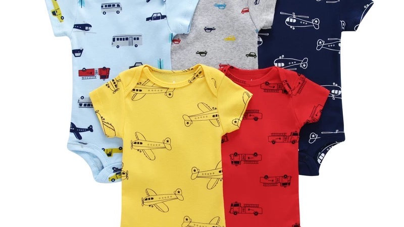 It's the Baby All things that GO! 5-Pack Onesies