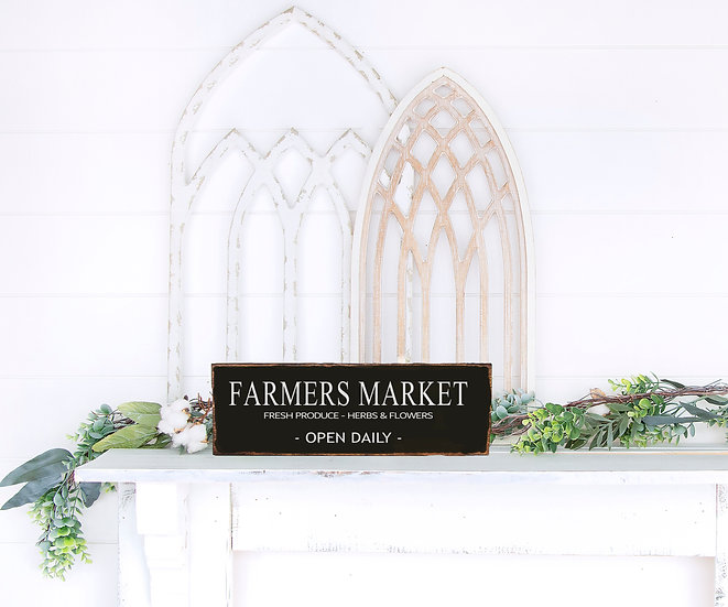 """""""FARMERS MARKET"""",  ca. 12 x 39 cm"""