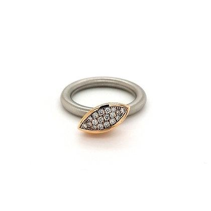 Pur Swivel Navette met diamant