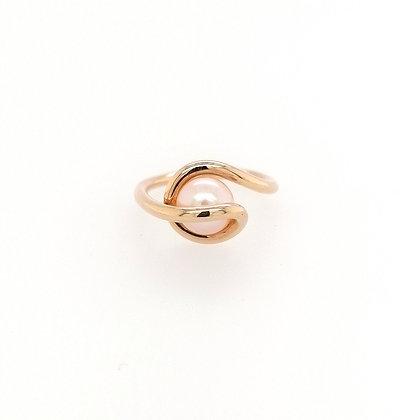 Nobilia ring met roze parel