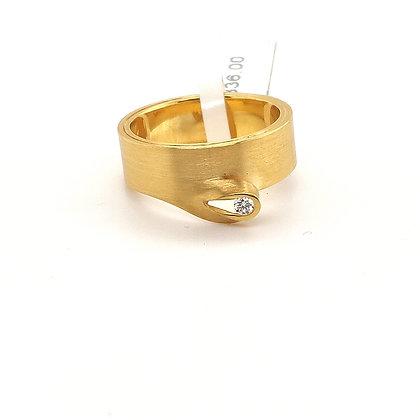 Toon ring met diamant