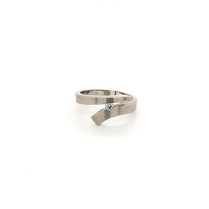 Nobilia smeedring met diamant