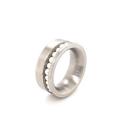 Schmuckwerk ring met parels