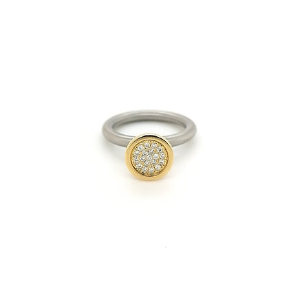 Pur Swivel ring met diamant