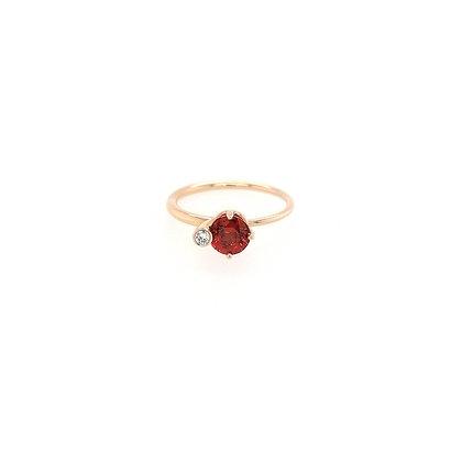 Nobilia ring met rode saffier en diamant