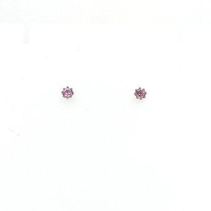 Nobilia oorsieraden met roze saffier