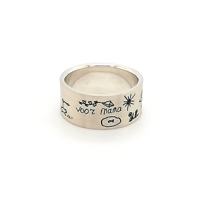 "Text-ring ""voor mama"""