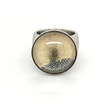 Pur Swivel Caviar met geelgoud Ø 19mm