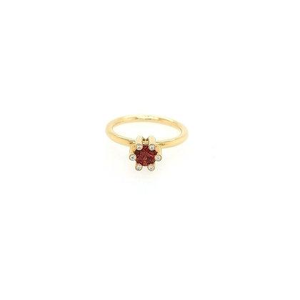 Nobilia ring met rode saffier