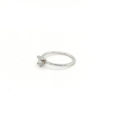 Platina solitair met diamant