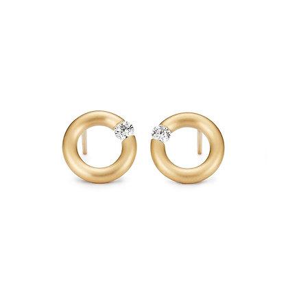 Niessing Spanring oorstekers 8mm met diamant