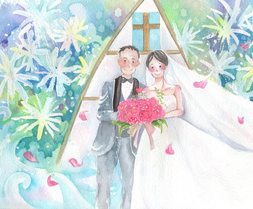 結婚お祝いイラスト
