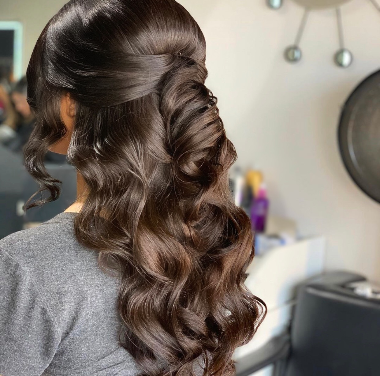 Formal engagement hair by Helana