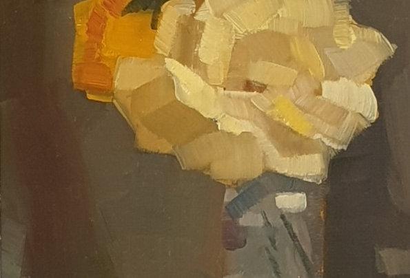 """Original Oil Painting by Zineb El Kouhen """"Accord Vert"""""""
