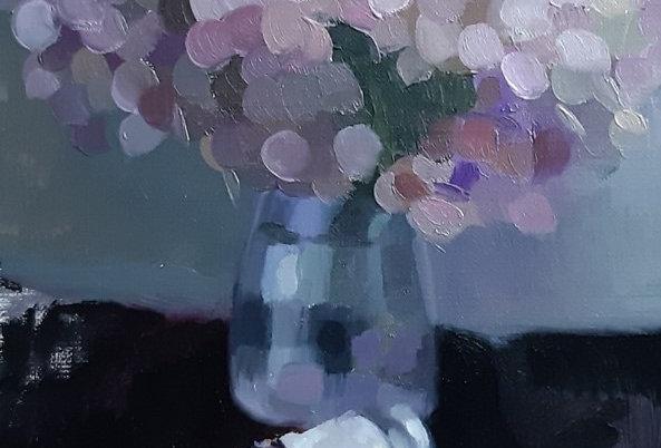 "Original Oil Painting by Zineb El Kouhen ""Blanc de Titane"""