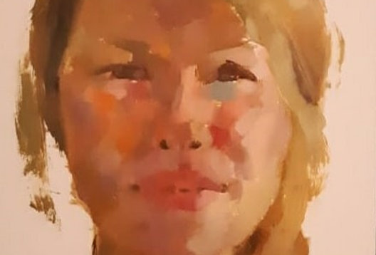"Original Oil Painting by Zineb El Kouhen ""La Danoise"""