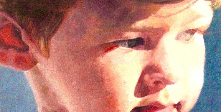 "Original Oil Painting by Zineb El Kouhen ""Enfance"""